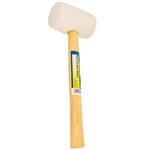 Tuff Stuff 95642 16 OZ White Rubber Mallet With Wood Handle