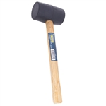 Tuff Stuff 95644 16 OZ Black Rubber Mallet With wood Handle