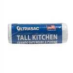 "Ultrasac 13070C18 13 Gallon Clear Recycling Tall Kitchen Trash Bags 18 Bags Per Roll 0.7 MIL 23""X29"""