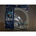 "Jaclo, WH-3060-S, White 60"" Stretch Flex Hose, Universal Replacement"