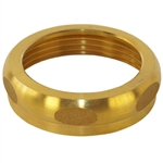 "Wal-Rich 0903004 Rough Brass Finish 1-1/2"" x 1-1/2"" Solid Brass Slipnut"