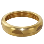 "Wal-Rich 0903008 Rough Brass Finish 2"" x 2"" Solid Brass Slipnut"