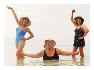1136 BD Three women in water