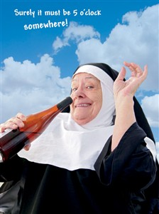 1318 BD Happy drinking nun