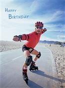 1388 BD Man on rollerblades