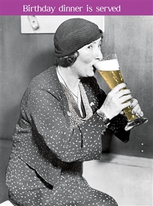 1463 BD Lady, huge beer glass