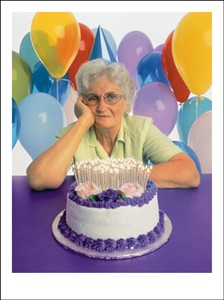 2164 BD Mature woman with cake