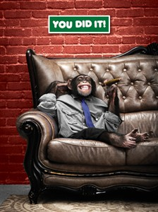 3127 CG Chimp, cigar on couch