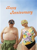 4142 AV Senior couple, scuba gear