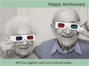 4150 AV Old couple with 3D glasses