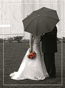 4438 WD Bride & groom with umbrella