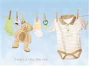 4629 NB Baby clothes on clothesline