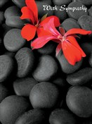 5423 SY Red flower on stones