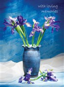 5437 SY Irises in ceramic vase