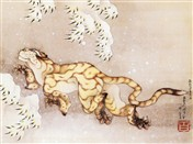 HOKUSAI Old Tiger in Snow (6821)