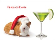 7557BX CH Guinea pig & apple martini