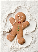 7564BX CH Gingerbread snow angel