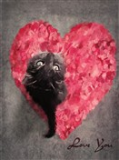 8144 VL Cat on heart painting