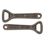 Cast Iron Save Water Drink Beer Bottle Opener