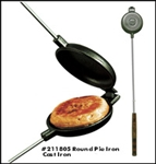Cast Iron Round Pie Iron - Outdoor & Campfire Cookware