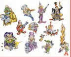 Adam Kaplan Tattoo Flash SET 100 / SHEET A