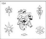 Surkov Tattoo Flash SET 1 / SHEET 4