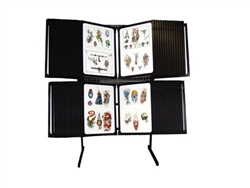 2-Tier Floor Display Unit Tattoo Flash Rack (No Plastic Protector Sheets)