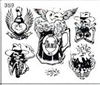 Surkov Tattoo Flash SET 3 / SHEET 9