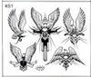 Surkov Tattoo Flash SET 4 / SHEET 1
