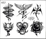 Surkov Tattoo Flash SET 4 / SHEET 7