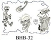 Henry Buro Black & White Flash SHEET 32