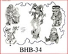 Henry Buro Black & White Flash SHEET 34