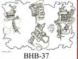 Henry Buro Black & White Flash SHEET 37
