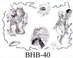 Henry Buro Black & White Flash SHEET 40