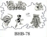 Henry Buro Black & White Flash SHEET 78