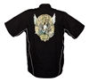 Black National Tattoo Bowling Shirt MEDIUM