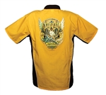 Yellow/Black National Tattoo Bowling Shirt LARGE
