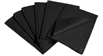 "13"" x 18"" Black Professional Towels - Poly-Backed (500)"