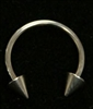 "18 Gauge Circular Barbell 3/8"" / 3mm Spikes"