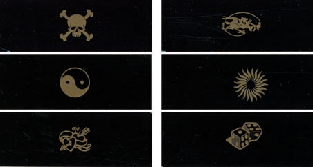 1 mixed coil covers engraved for Tattoo machine coil covers