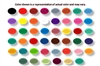 Set of 46 Homogenized Liquid Colors Tattoo Ink (1 oz.) (HLC2-HLC47 & TB-1)