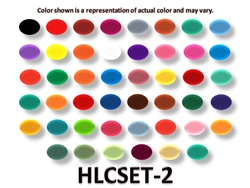 Set of 46 Homogenized Liquid Colors Tattoo Ink (2 oz.) (HLC2-HLC47)