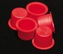 Large Red Plastic Caps (100)