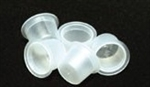 Large Clear Plastic Caps (100)