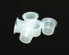 Medium Clear Plastic Caps (100)