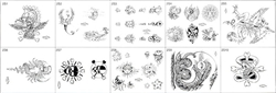 Surkov Tattoo Flash SET 2 (10 SHEETS)