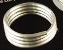 "Silver Bearing Solder, 18"" coil, 1/8"" Round"