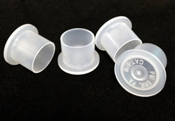 Medium Clear STANDING Plastic Ink Caps (100)