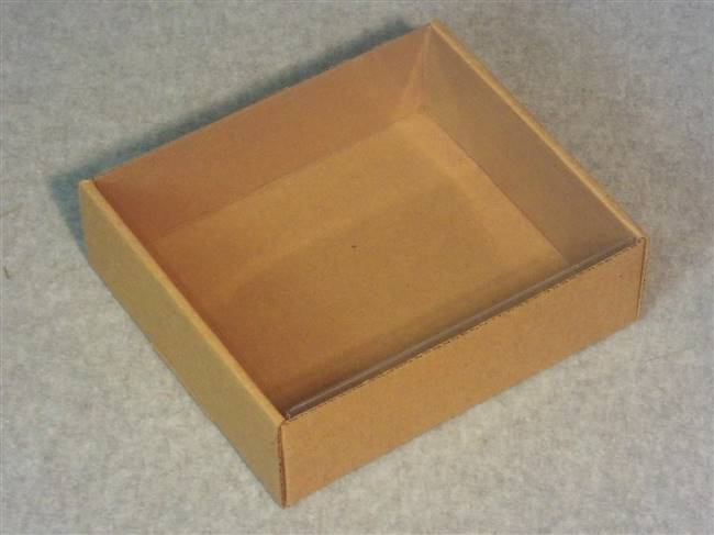 Kraft Tray with Clear Inside Cover