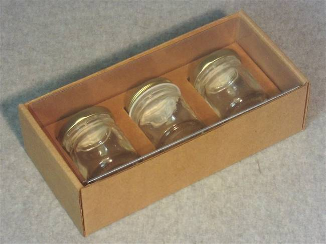 Kraft Jar Box with Clear Acetate Cover